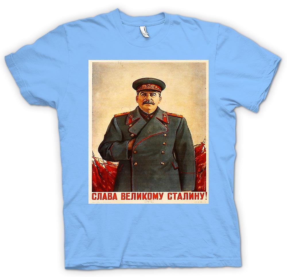 Camiseta para hombre - Poster ruso de Propoganda - Stalin