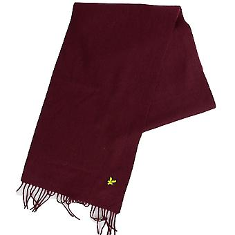 Lyle & Scott Sv311a Lambswool Burgundy Scarf