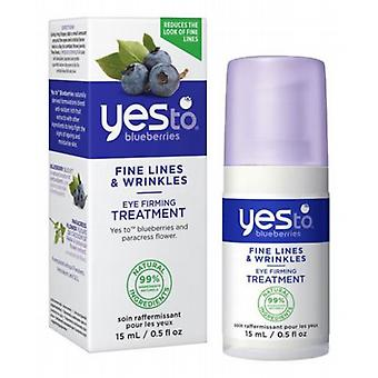 Yes To Blueberries Eye firmando tratamento