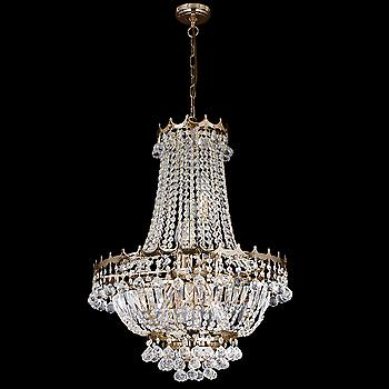 Searchlight 9112-52GO Versailles 9 Light Gold Plated Finish Chandelier