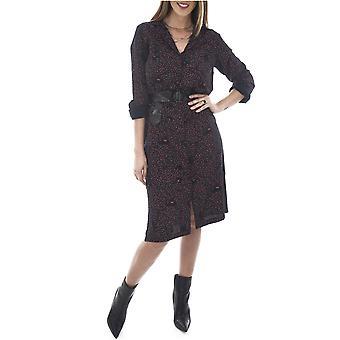 Dress shirt & belted reason flowered Madeleine - Vero Moda