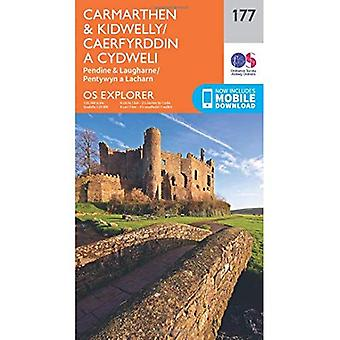 OS Explorer Map (177) Carmarthen and Kidwelly