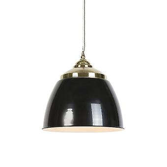 QAZQA Art Deco lámpara colgante negro con latón - Mumbai