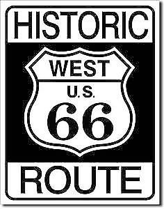 Historic Route 66 metal sign    (de)