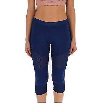 Adidas By Stella Mccartney Blue Polyester Leggings