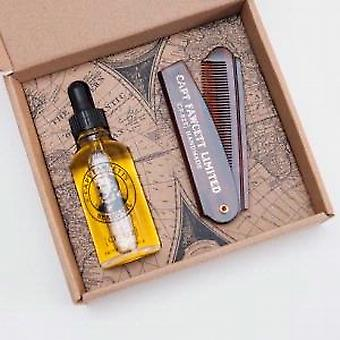 Captain Fawcett Beard Oil & Folding Pocket Moustache Comb Gift Set