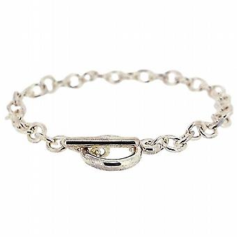The Olivia Collection Unisex Silvertone 7.5 Inch T-Bar Belcher Style Bracelet
