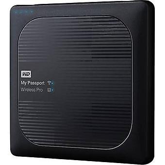 WD My Passport™ Wireless Pro WDBP2P0020BBK-EESN Wi-Fi HDD 2 TB Schwarz inkl. SD-Adapter