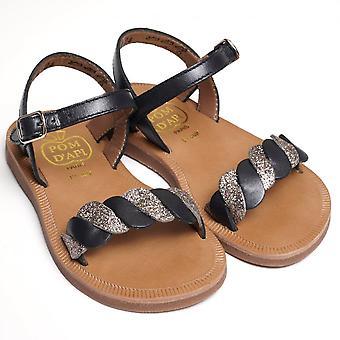 Pom D'Api Plagette Twist Sandal, Marine/Chic