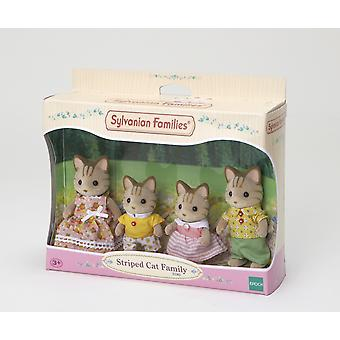 Sylvanian famille chat rayé famille