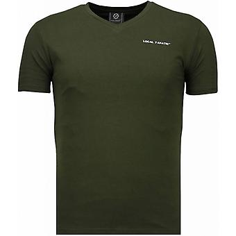 Basic exclusive V Neck-T-Shirt-Green
