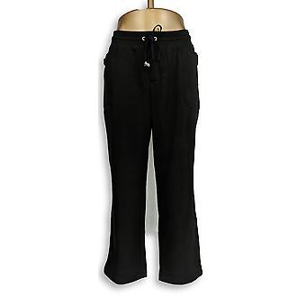 Isaac Mizrahi Live! Vrouwen ' s Petite broek LP Soho Straight Leg zwart A295681