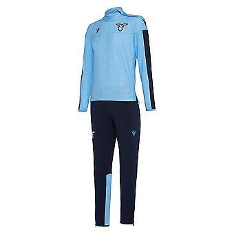 2019-2020 Lazio macron half zip trainingspak (blauw)-kinderen