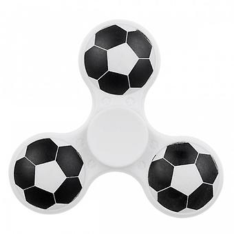 Hand Spinner 3D Voetbal in Wit