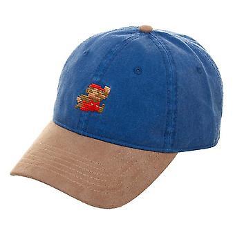 マリオ ブルー スエード法案帽子