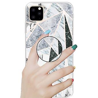 Protective Case Cover for Apple iPhone 11 6.1 Inch Polytriangle 3D Marble TPU Silicone Case Case