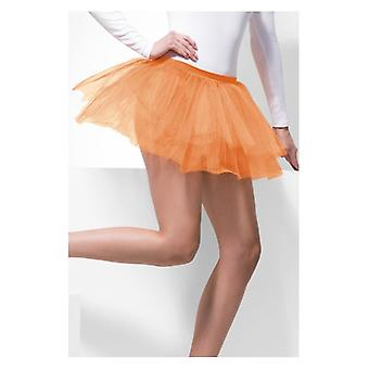 Womens Orange Tutu Unterrock Fancy Dress Zubehör
