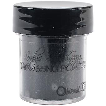 Lindy's Stamp Gang 2-Tone Embossing Powder .5oz Jars-Obviously Black LSG-EP-87