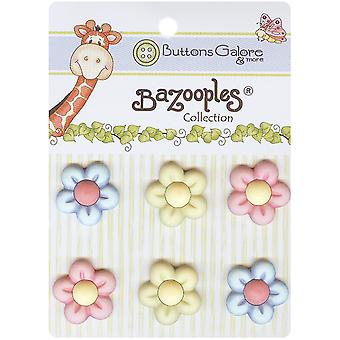 Bazooples Buttons Multi Flowers Bz 108