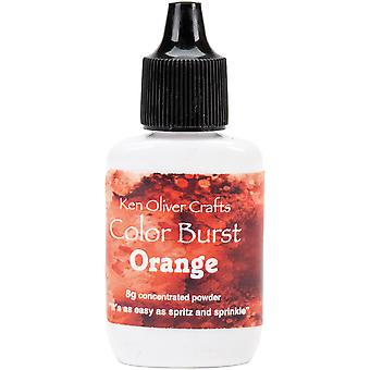 Ken Oliver Color Burst Powder 6gm-Orange KNCPW-6110