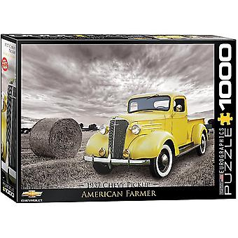 Chevrolet PickUp Truck 1937 1000 piece jigsaw puzzle 680MM X 490MM  (pz)