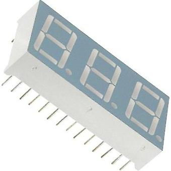 Seven-segment display Red 14.22 mm 2 V No. of digits: 3