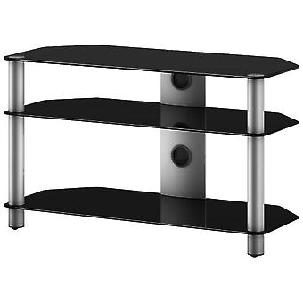 Elbe Furniture Tv Support Fixed Up to 40 '' Crystal Black
