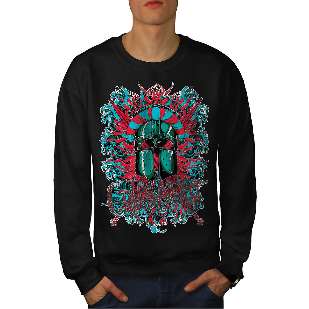 Crusader Knight Hero obscurité hommes Black Sweatshirt | Wellcoda