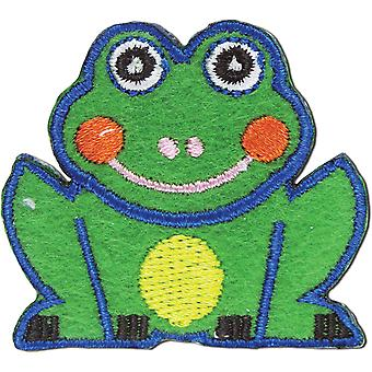 Iron-On Appliques-Frog A001300-244