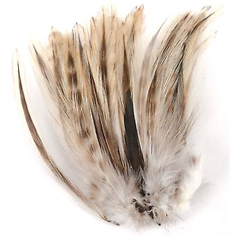 Strung Badger Feathers-Natural B151