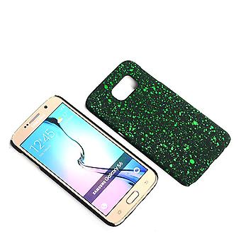 Cell phone cover case bumper shell voor Samsung Galaxy S6 3D Star groen