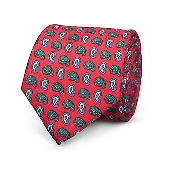 View men's classic tie lines tie red Paisley special offer