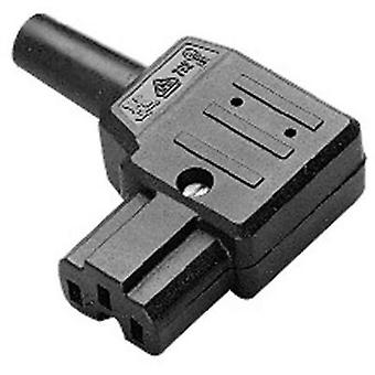 Hot wire connector C15A ATT.LOV.SERIES_POWERCONNECTORS 792 Socket, right angle Total number of pins: 2 + PE 10 A Black K