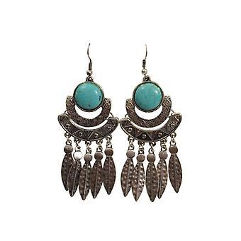 Long boho chic statement earrings Ibiza style