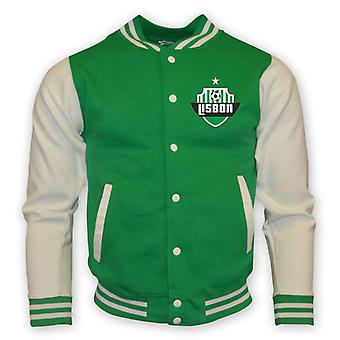 Sporting Lisbon College Baseball Jacket (green) - Kids