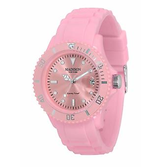 Candy Time by Madison N.Y. Uhr Unisex U4167-23-1 rosa