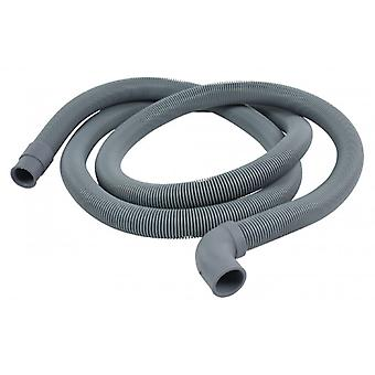 HQ air supply hose 22 mm curved-19 mm straight 2.50 m