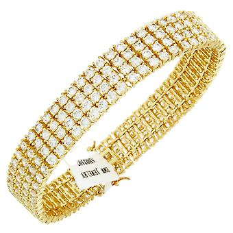 Iced Out Bling High Quality Armband - CZ gold / weiß