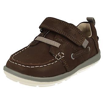 Bebés primero Clarks zapatos barco suavemente