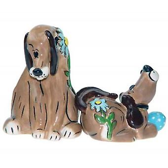 Whimsical Puppy Love Dog Salt and Pepper Shakers