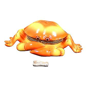 Ocean Seaside Tiki Orange krabbekløer hængslet nipsting boks PHB 512