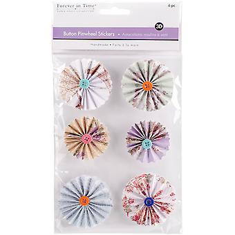 MultiCraft Handmade 3D Button Pinwheel Stickers-Delicate SS800-B