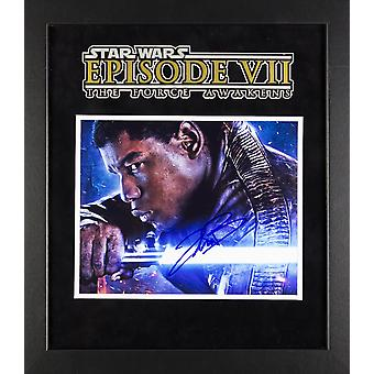 Star Wars - Signed John Boyega Movie Photo - Framed Artist Series