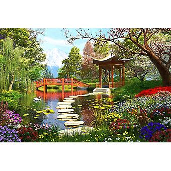 Gardens of Fuji Poster Print by Dominic Davidson