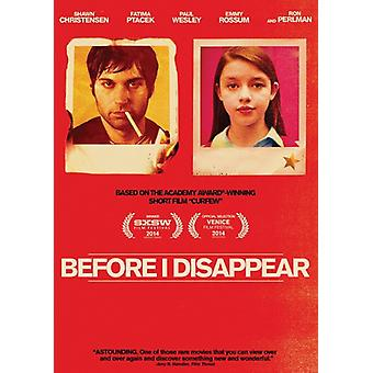 Before I Disappear [DVD] USA import