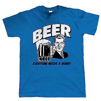 Bier jeder Mensch braucht ein Hobby, Mens lustig trinken Tshirt
