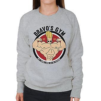 Johnny Bravo Bravos Gym kvinnors tröja