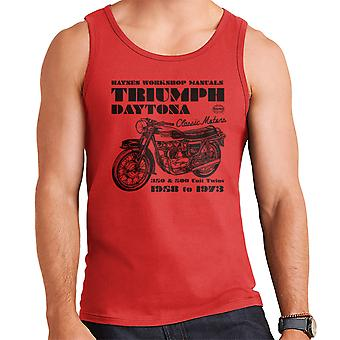 Haynes Owners Workshop Manual Triumph Daytona 350 500 Men's Vest