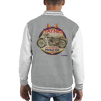 Haynes Brand Richfield BSA Motor Oil Distressed Kid's Varsity Jacket