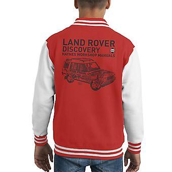 Haynes Workshop Manual 3016 Land Rover Discovery Black Kid's Varsity Jacket